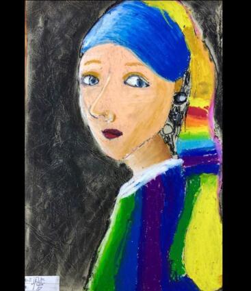 5–7岁少儿创意美术作品,冲浪