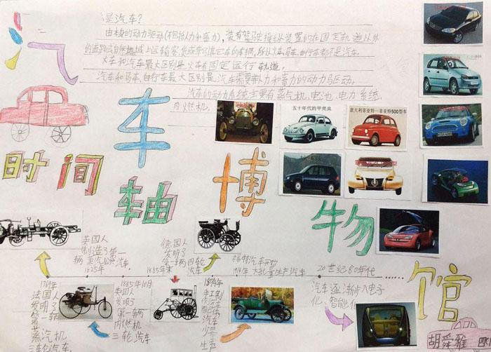 小学生手抄报图片,汽车发展史