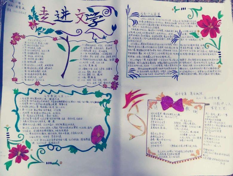 中学生英语手抄报版面设计图,我爱外国语中学