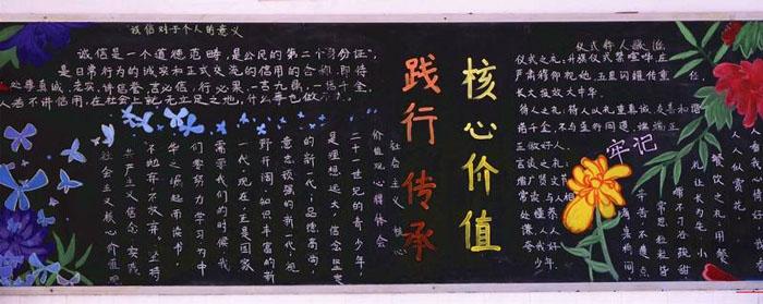 中学生社会主义核心价值观黑板报