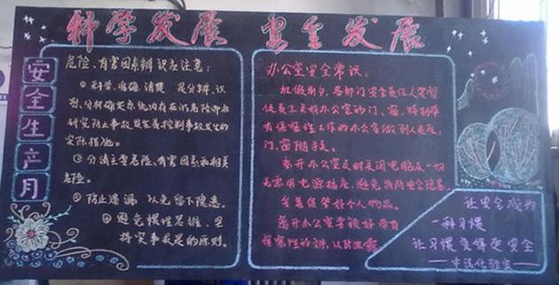 细化企业管理黑板报图片