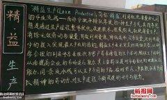 企业生产质量黑板板
