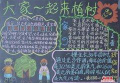 绿化环境植树节黑板报