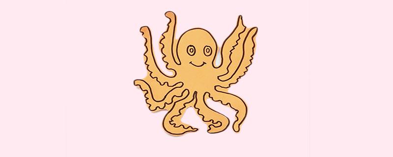 幼儿手工剪纸章鱼
