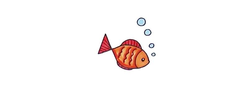 用数字画小鱼怎么画