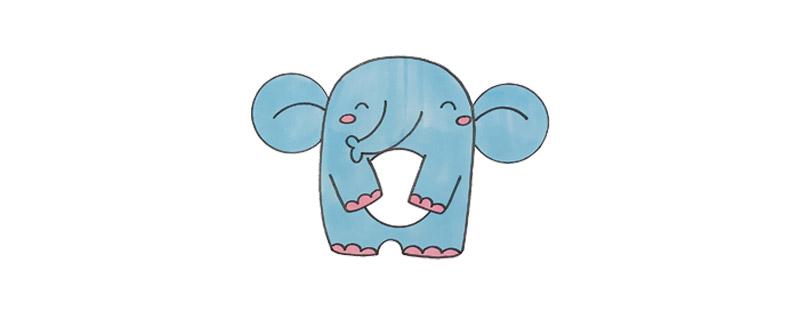 用数字9画大象怎么画