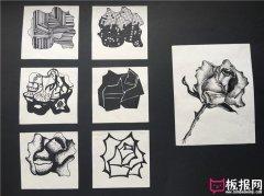 七种花卉图案素材,装饰图案