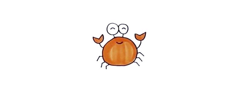 用数字8画螃蟹怎么画