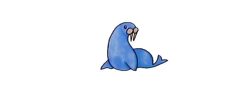 怎么用数字画海豹简笔画