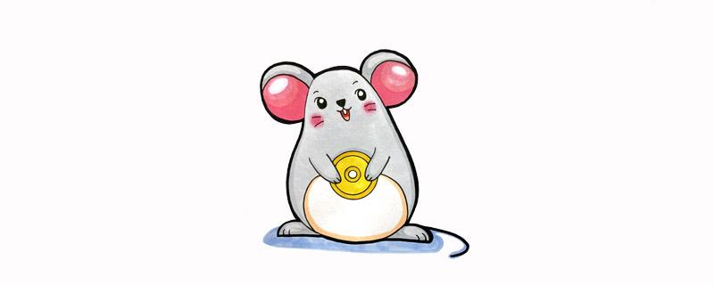 卡通新年老鼠简笔画,2020鼠年吉祥物简笔画