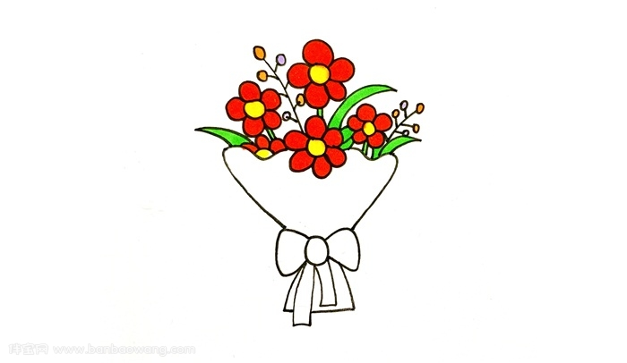 花束怎么画