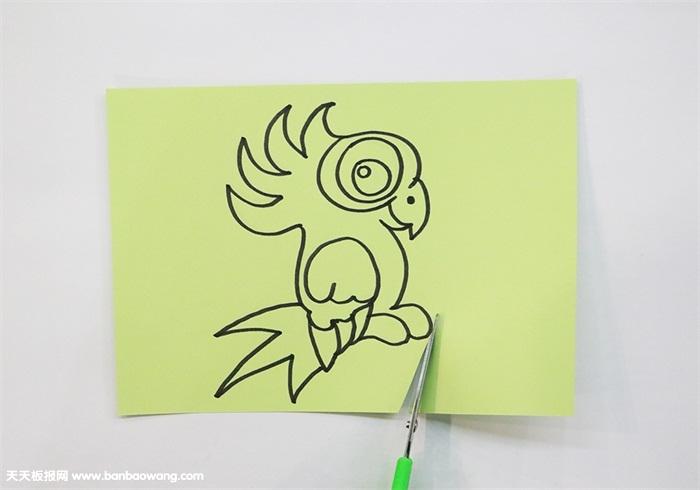 鹦鹉剪纸怎么剪