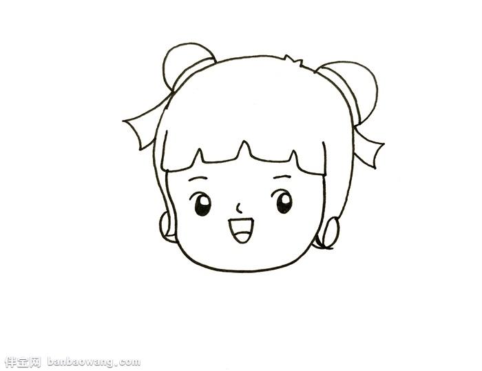春节小孩拜年简笔画,中国拜年娃娃简笔画